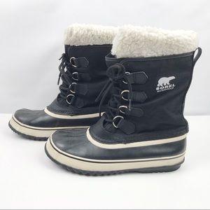 Sorel Women's Carnival Winter Black Boots - Size 9